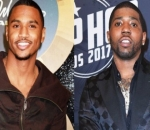 Internet Reacts to Trey Songz's Hilarious Expression After YFN Lucci Leaves Him Hanging in Public