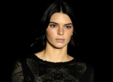 Photos: Kendall Jenner Goes Braless in Sheer Dress at Milan Fashion Week