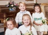 Princess Charlotte Copies Mom's Duchess Slant in Princess Eugenie's Wedding Picture