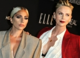 Lady GaGa and Charlize Theron Flaunt Cleavage at ELLE Women in Hollywood Celebration