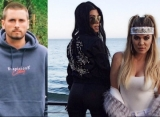 Scott Disick Looks Pissed While Hanging Out With Kourtney and Khloe Kardashian