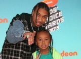 Kids' Choice Awards 2019: Tyga and Son King Cairo Are Twinning on Orange Carpet