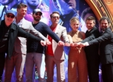 Pics: 'Avengers: Endgame' Original 6 Cast Immortalized With Handprint Ceremony