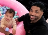 Tristan Thompson Bonds With 'Twin' Daughter True in New Adorable Picture