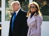 Melania Trump Sparks Body Double Theory After Being Seen Smiling With Donald Trump