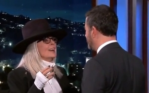 Diane Keaton Recreates 'Book Club' Kissing Scene With Jimmy Kimmel on 'Live!'