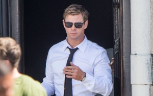 Chris Hemsworth Almost Suits Up in First 'Men in Black 4' Set Photos