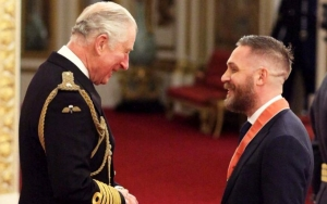 Tom Hardy Shares a Laugh With Prince Charles at CBE Ceremony