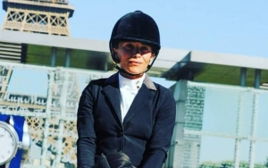 Mary-Kate Olsen Puts Equestrian Skills on Display at Show Jumping Competition