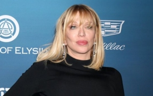 Distraught-Looking Courtney Love Enjoys Lunch After Putting Dog Poop on Plate