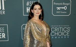 Anne Hathaway Stuns in Gold at 2020 Critics' Choice Awards Months After Birth of Second Child