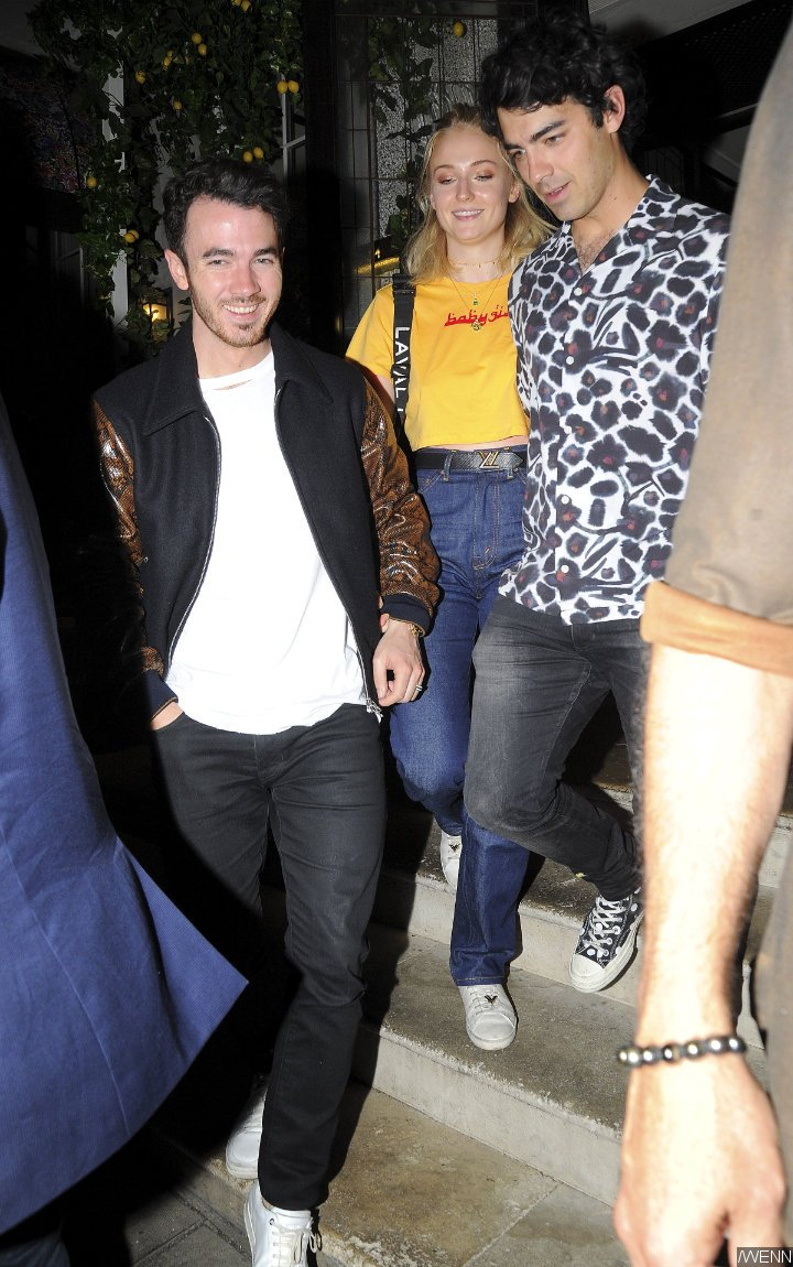 Joe Jonas and Sophie Turner Are Joined by Kevin Jonas on Double Date With Nick Jonas and Priyanka Chopra