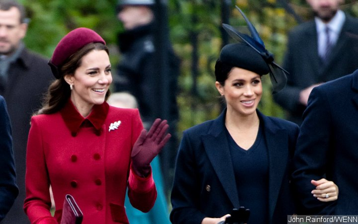 Pics: Kate Middleton and Meghan Markle Look Friendly at Christmas Service After Feud Rumor