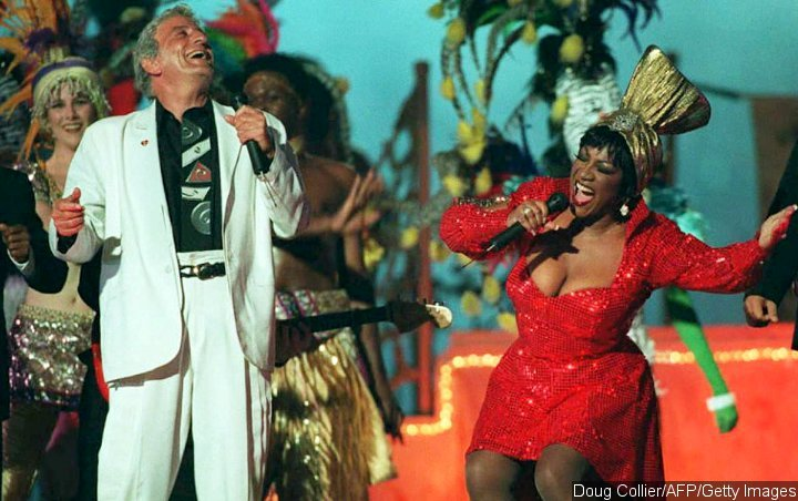 Tony Bennett and Patti LaBelle at Super Bowl XXIX