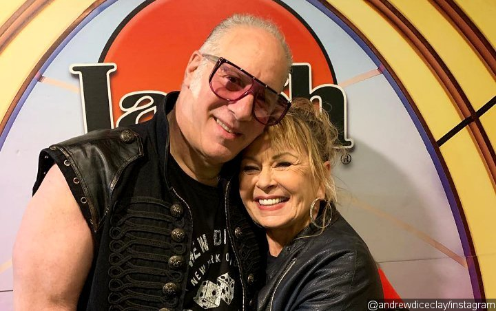 Roseanne Barr Treats Andrew Dice Clay's Audience to Surprise Stand-Up Set
