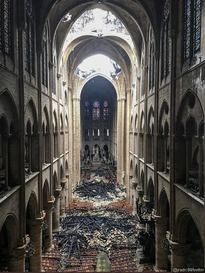 Notre Dame Cathedral One Day After the Fire