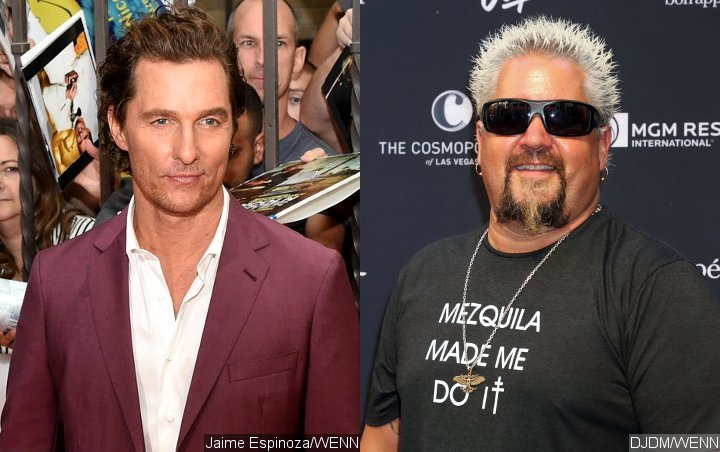 Matthew McConaughey Applauds Guy Fieri at Hollywood Walk of Fame Ceremony