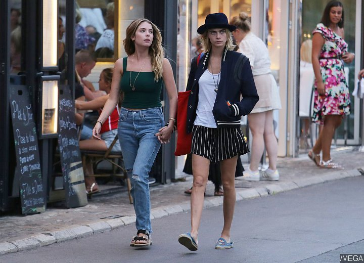 Cara Delevingne and Ashley Benson Spotted During Vacation in Saint-Tropez