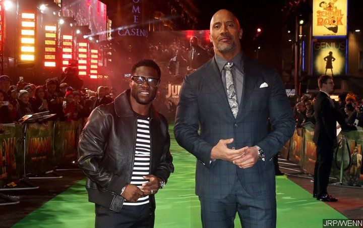 Kevin Hart Trolls Dwayne Johnson for Showing Off His Buff Physique