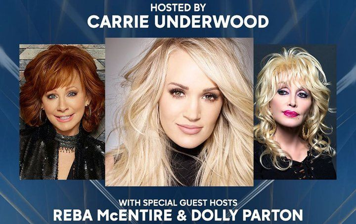 Carrie Underwood to Get Dolly Parton and Reba McEntire's Assistance in Hosting 2019 CMA Awards