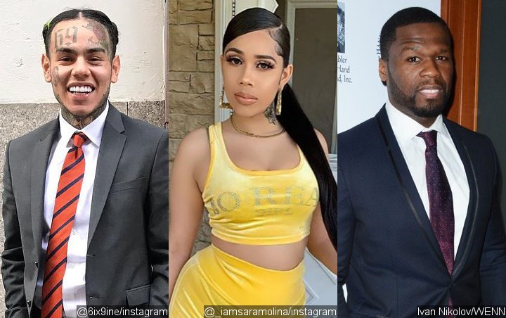 Tekashi 6ix9ine's Baby Mama Lashes Out at 50 Cent for Alleging She's a Cheater