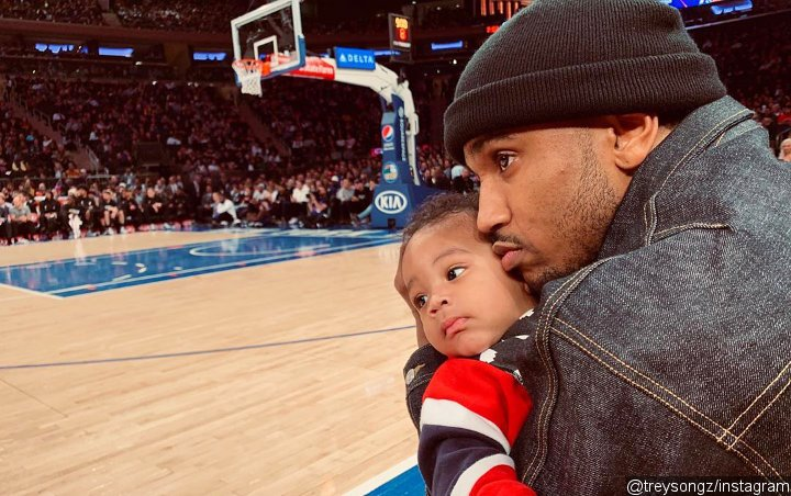 Trey Songz Is Seen at Basketball Game With Son and Mystery Woman, Fans Think She's His BM