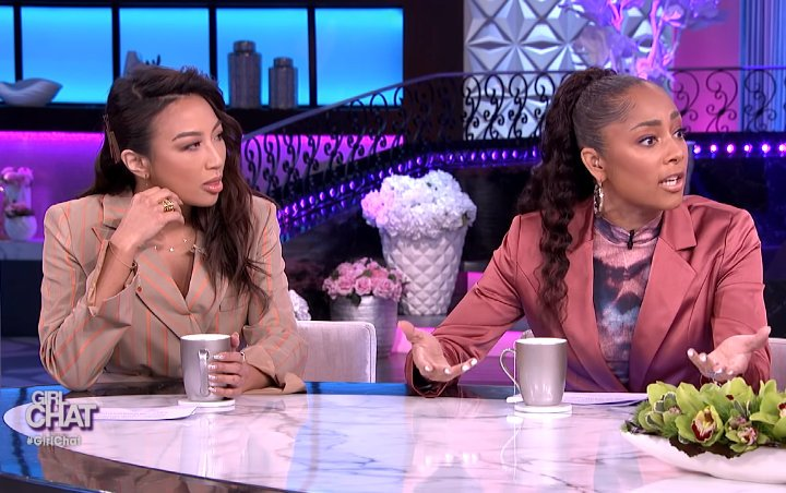 Jeannie Mai Looks Visibly Annoyed After Amanda Seales Shuts Her Down