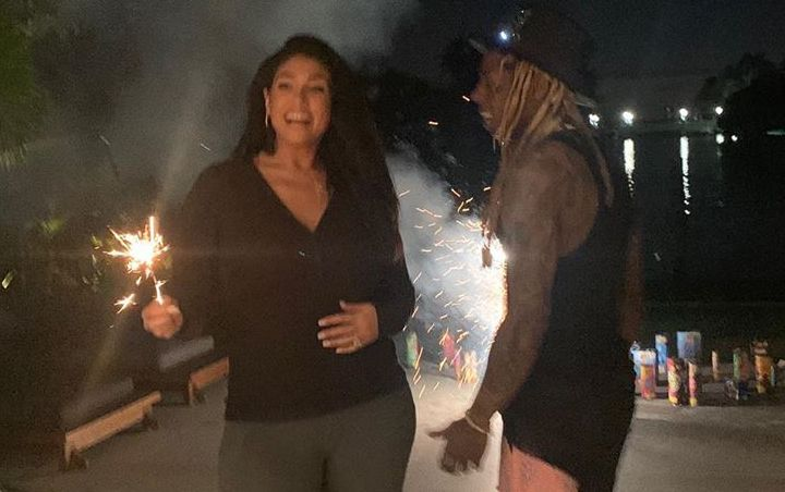 Lil Wayne and Fiancee Play With Fireworks as They Go Instagram Official