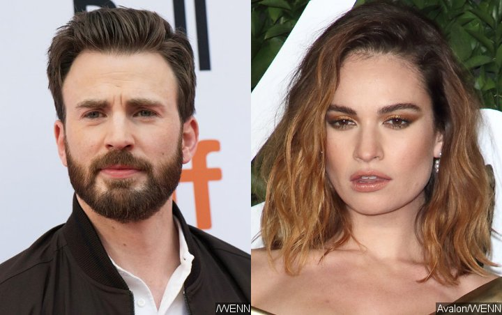 Chris Evans Spotted on Possible London Date With Lily James