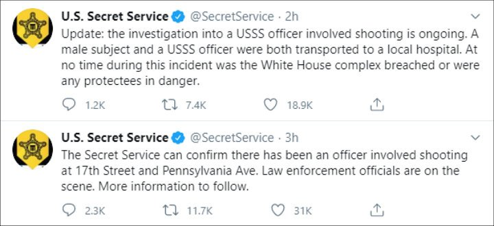 The Secret Service Tweets After the White House Shooting