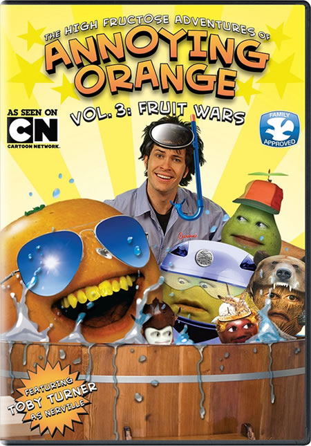 The High Fructose Adventures of Annoying Orange Vol 3: Fruit Wars DVD Giveaway