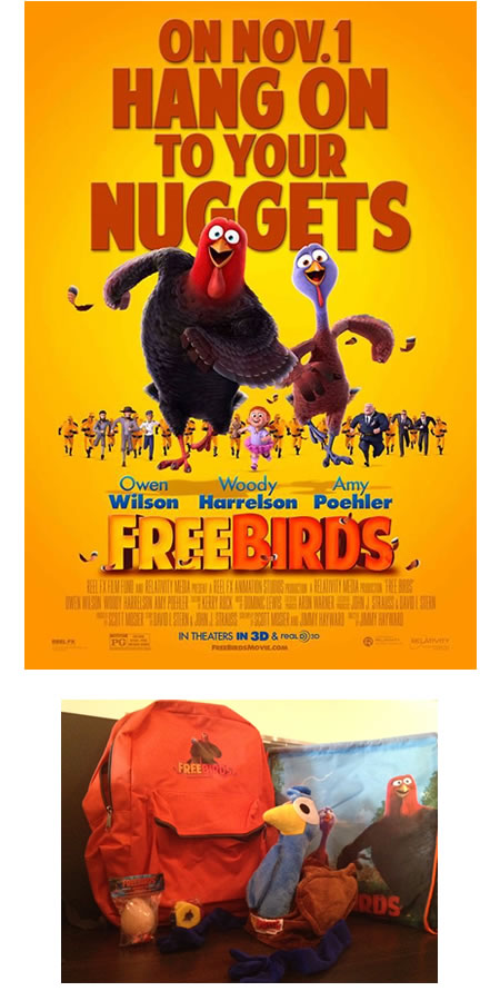 FREE BIRDS Movie Prize Pack Giveaway