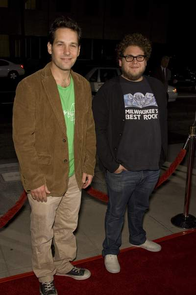 Jonah Hill, Paul Rudd<br>The Darjeeling Limited - Beverly Hills Movie Premiere - Arrivals