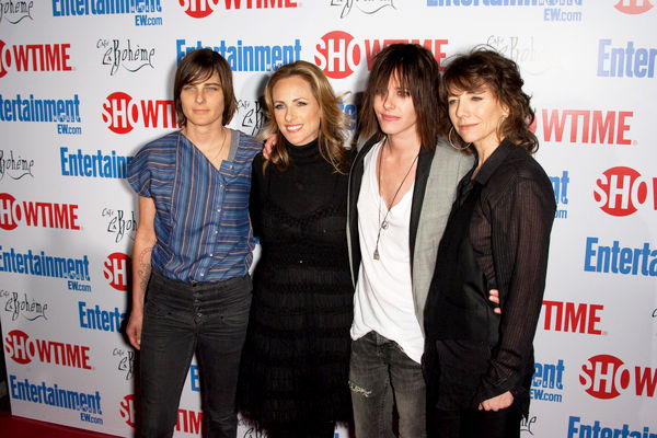 Partial L Word cast with Ilene Chaiken