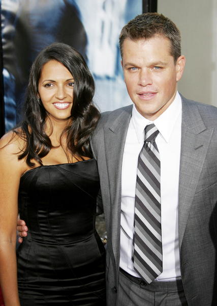 Matt Damon and Luciana Bozan Barroso