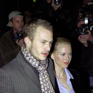Heath Ledger, Naomi Watts in The Hours Moview Premiere