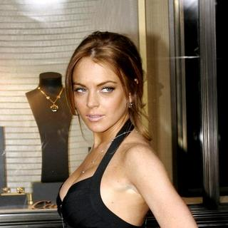 Lindsay Lohan - Cocktail Party and Intimate Dinner in Celebration of the Cartier Charity Love Bracelet
