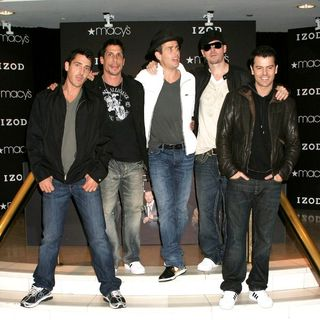 New Kids On The Block in New Kids on the Block Announce Their New Album and Upcoming Tour at Macy's in New York