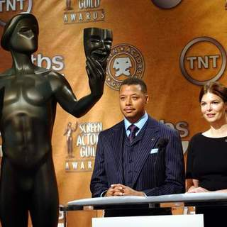 Terrence Howard, Jeanne Tripplehorn in 14th Annual Screen Actors Guild Awards - Nominations Announcement