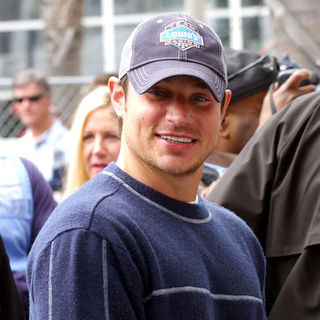 Nick Lachey in 2008 Toyota Pro/Celebrity Race - Race Day