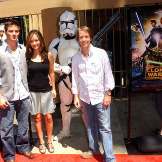 Matt Lanter, Catherine Taber, James Arnold Taylor in Star Wars: The Clone Wars U.S. Premiere - Arrivals