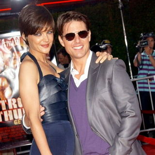 Katie Holmes, Tom Cruise in Tropic Thunder Los Angeles Premiere - Arrivals