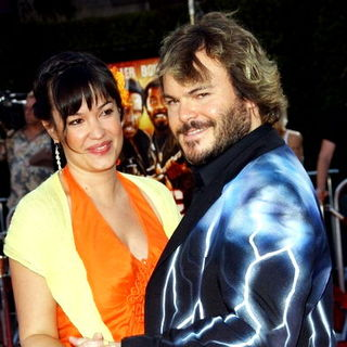 Jack Black, Tanya Haden in Tropic Thunder Los Angeles Premiere - Arrivals
