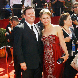 Ricky Gervais, Jane Fallon in 60th Primetime EMMY Awards - Arrivals