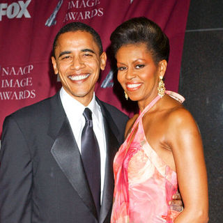 Barack Obama, Michelle Obama in 36th Annual NAACP Image Awards - Arrivals