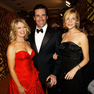 Jon Hamm, Jennifer Westfeldt, Mary Hart in 66th Annual Golden Globes HBO After Party - Arrivals