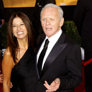 Anthony Hopkins, Stella Arroyave in 15th Annual Screen Actors Guild Awards - Arrivals