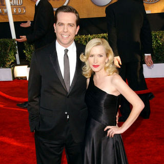 Angela Kinsey, Ed Helms in 15th Annual Screen Actors Guild Awards - Arrivals