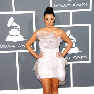 Kim Kardashian in The 51st Annual GRAMMY Awards - Arrivals