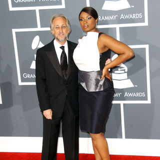 Jennifer Hudson, Neil Portnow in The 51st Annual GRAMMY Awards - Arrivals